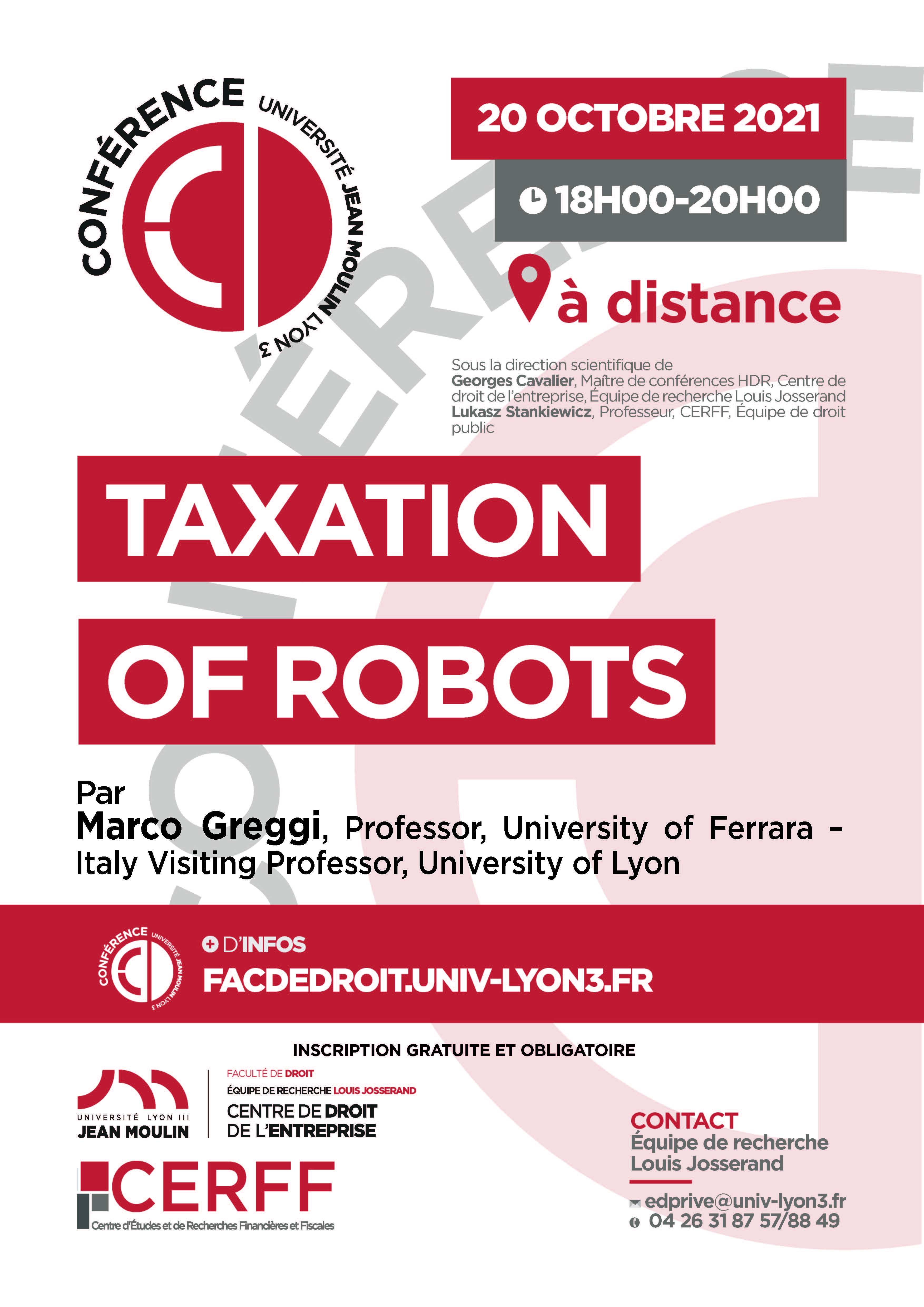 Conférence Marco GREGGI 20 oct