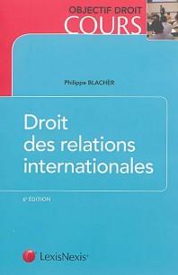 couverture publication droit des relations internationales