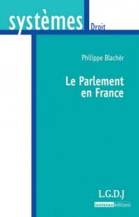 couverture publication le parlement en France