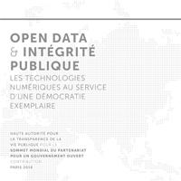 Open data integrité publique
